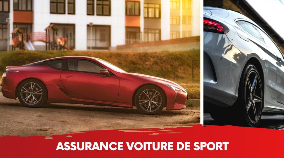 une voiture de sport bien protégée par son assurance tous risques