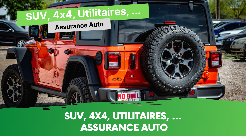 guides des assurances pour les 4x4, suv, utilitaires
