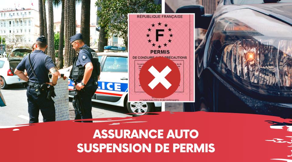 un conducteur se faisant suspendre son permis et perdant son assurance